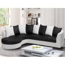 canap d angle vente unique vente unique canapé d angle en simili octave bicolore noir et