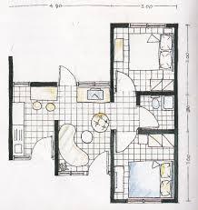 layout ruangan rumah minimalis contoh rumah mungil type 30 lengkap dengan layout tak depan