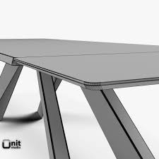 Extendable by 3d Big Table Bonaldo Extendable Cgtrader