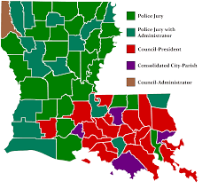 Louisiana Map Of Parishes by Types Of Parish Government In Louisiana 5019x4515 Mapporn