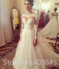 aliexpress com buy vintage sheer lace long sleeve wedding