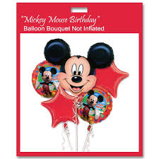 deliver balloons nyc mickey mouse birthday mylar balloon bouquet not inflated balloon