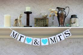 table banners and signs mr and mrs wedding signs sweetheart table banners tiffany blue