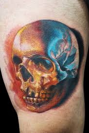 simple skull by maximo lutz design of tattoosdesign of