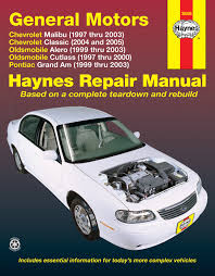 general motors covering chevrolet malibu 97 03 oldsmobile alero