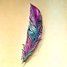 purple feather best 25 color feather tattoos ideas on feather tattoo