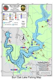 Southern Ohio Map by Where To Fish In Ohio Burr Oak Lake