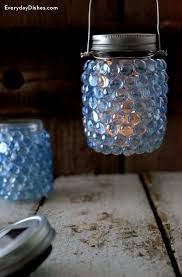 How To Make A Solar Light - how to make a diy glass pebble lantern