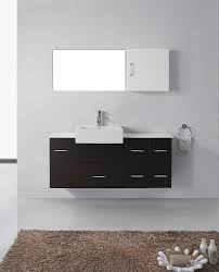 Homebase Bathroom Cabinets by Virtu Usa Um 3055 S Bl Hazel 57 Inch Wall Mounted Single Sink