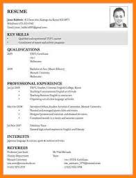 Resume Template For Job Application by Examples Of Resume For Job Application Sample Resumes