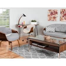 lumisource lumisource curvo mid century modern office chair in