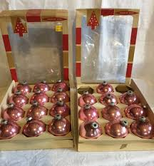 22 vintage coby pink glass christmas ornaments balls 2 5 8