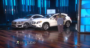 mercedes giveaway degeneres celebrated birthday giving away two mercedes
