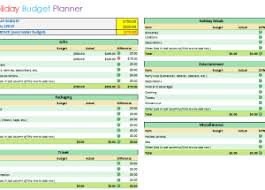 vacation budget planner template excel budget templates for excel