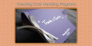 wedding programs ideas wedding program ideas cool ways to create programs for weddings