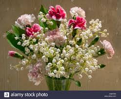 of the valley bouquet bouquet with carnations and lilies of the valley convallaria