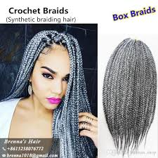 braided extensions 3s small box braid extensions burgundy grey 613 20 24 inch