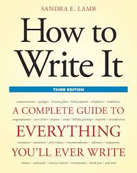 how to write it third edition by sandra e lamb
