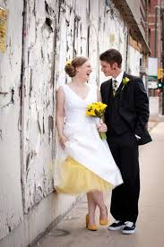 a denver co bright u0026 urban yellow hued wedding mywedding