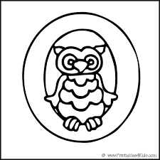 alphabet coloring page letter o owl printables for kids u2013 free