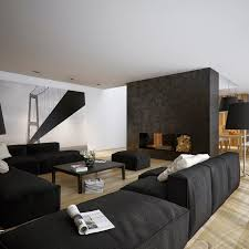 modern black and white bedroom design with cool track lighting