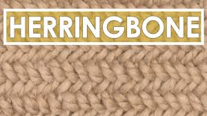 herringbone knit stitch pattern