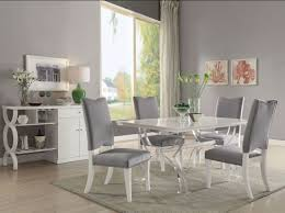acrylic dining room table martinus high gloss white and clear acrylic dining room set from