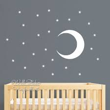moon stars wall sticker children room stars moon wall decal baby moon stars wall sticker children room stars moon wall decal baby nursery wall decor kids room removable decoration cut vinyl n48 in wall stickers from home