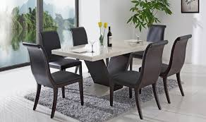 Black Dining Table Set - Granite dining room sets
