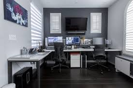 gaming setup simulator modern home office ideas small computer room design breathaking