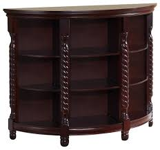 Cherry Wood Sofa Table Wood Entryway Buffet Console Sofa Table Cherry Finish