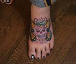 50 magnificent skull tattoos on foot