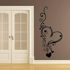 Dettagli Su Floreale Amore Cuore Fiori Wall Art Adesivi Murali - Home decor wall art stickers