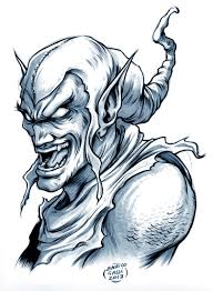 green goblin sketch by enricogalli on deviantart