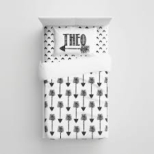 Personalized Comforter Set Black And White Tribal Arrows Minimalist Kids Bedding