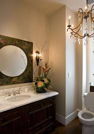 hot summer trend 25 dashing powder rooms with tropical flair modern powder room lighting wall sconces with mosaic tile vanity