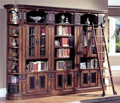 Wood Bookcase With Doors Large Bookcases With Glass Doors Dans Design Magz Beautiful