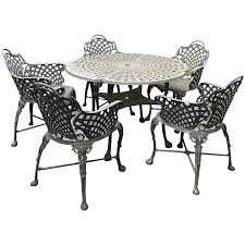 Garden Chairs And Table Png Viyet Designer Furniture Tables Traditional Cast Iron Garden