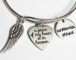 personalized remembrance jewelry memorial bracelet etsy