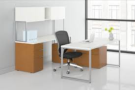 Hon Computer Desk Hon Voi Contemporary U Shaped Desk With Low Credenza Vc7292u2b