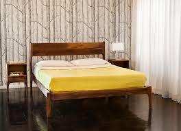 simple mid century modern bed frame editeestrela design