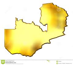 Zambia Map Zambia 3d Golden Map Royalty Free Stock Photos Image 9369558