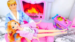 Barbie Princess Bedroom by Barbie Princess Bedroom Evening Routine Anna Frozen Doll