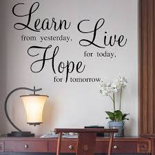 Aliexpresscom  Buy Learn Live Hope Quotes Wall Stickers Family - Family room quotes