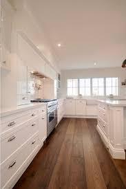 Hardwood Floors With White Cabinets Kitchen Kitchen With White Cabinets And Wide Hardwood Plank