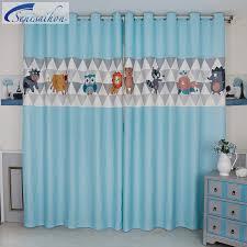 owl bedroom curtains senisaihon 3d blackout curtains cartoon owl animal series pattern