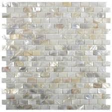 Brick Tile Kitchen Backsplash Cream Brick Pearl Shell Tile Bricks Shell And Pearls