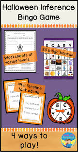 Halloween Bingo Free Printable Cards by Halloween Bingo Game Making Inferences