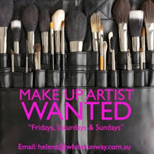 makeup artists needed white runway