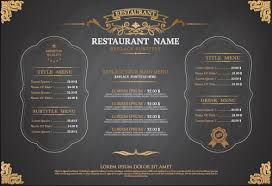 gray style restaurant menu design vector 01 vector cover free